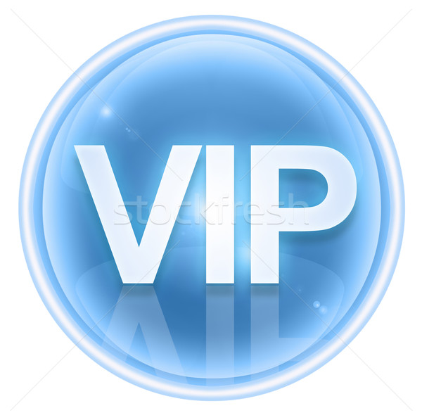 Stockfoto: Vip · icon · ijs · geïsoleerd · witte · business