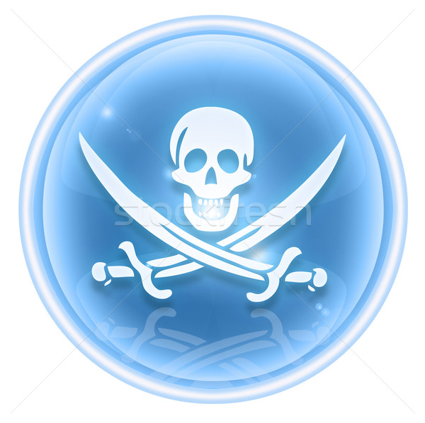 Pirate icon ice, isolated on white background. Stock photo © zeffss