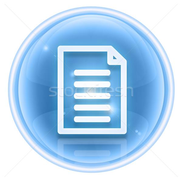 Document icon ijs geïsoleerd witte internet Stockfoto © zeffss
