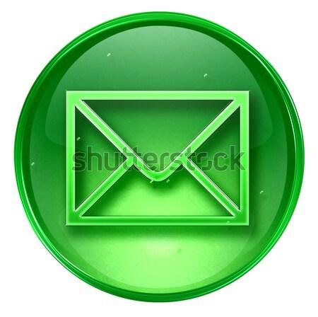 Stockfoto: Envelop · icon · ijs · geïsoleerd · witte · kantoor