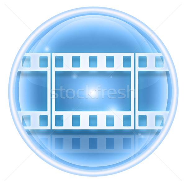 Film icon ice, isolated on white background. Stock photo © zeffss