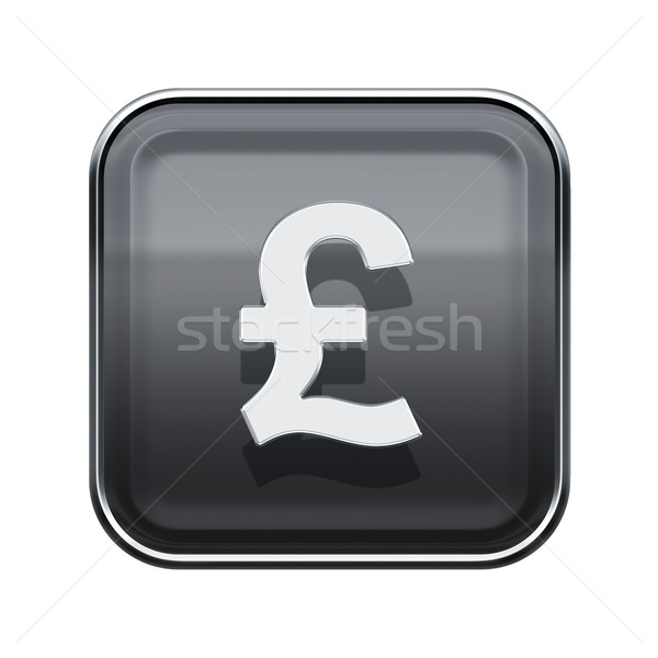 Libra ícone cinza isolado branco Foto stock © zeffss