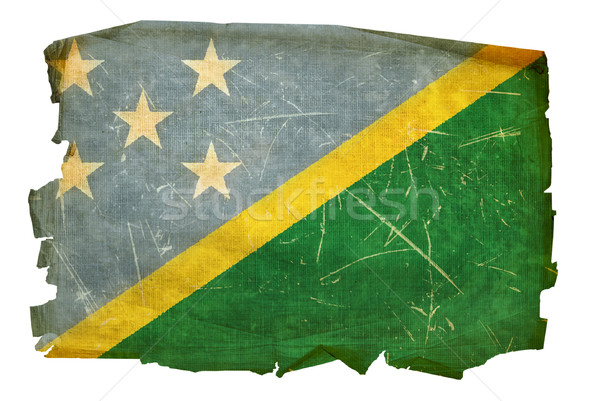 Solomon Islands Flag icon, isolated on white background. Stock photo © zeffss