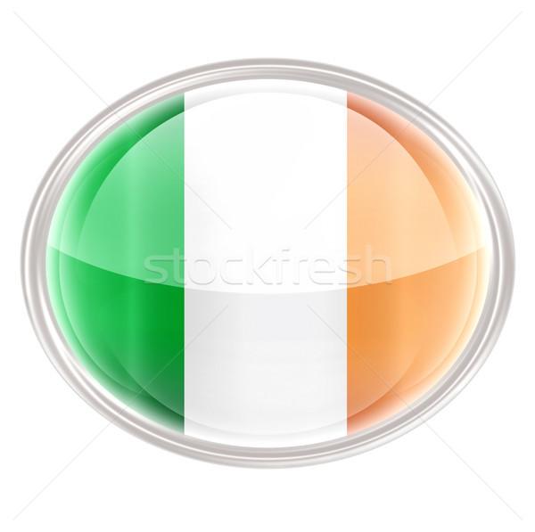Ireland Flag Icon, isolated on white background. Stock photo © zeffss