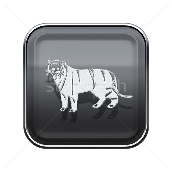 Tiger Zodiac icon grey, isolated on white background. Stock photo © zeffss