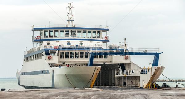 Pont pier vervoer business zomer oceaan Stockfoto © zeffss