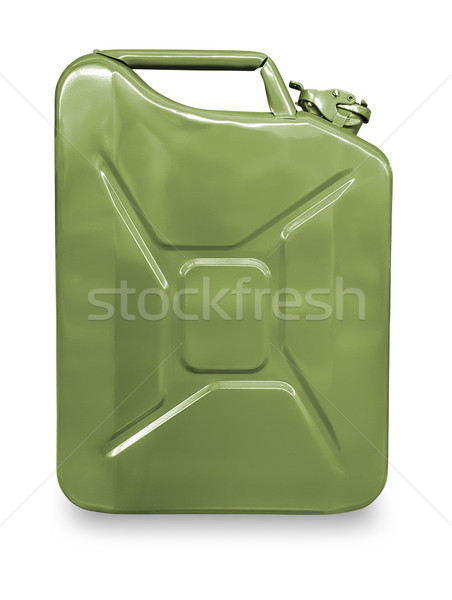 Green metal canister for gasoline Stock photo © zeffss