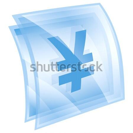Font ikon kék izolált fehér pénz Stock fotó © zeffss