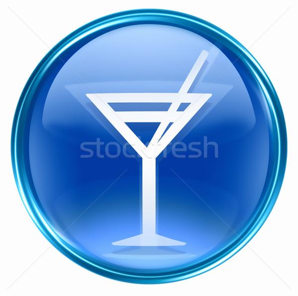 wine-glass icon blue, isolated on white background. Stock photo © zeffss