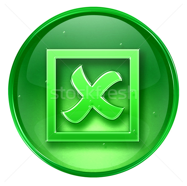 close icon green, isolated on white background. Stock photo © zeffss