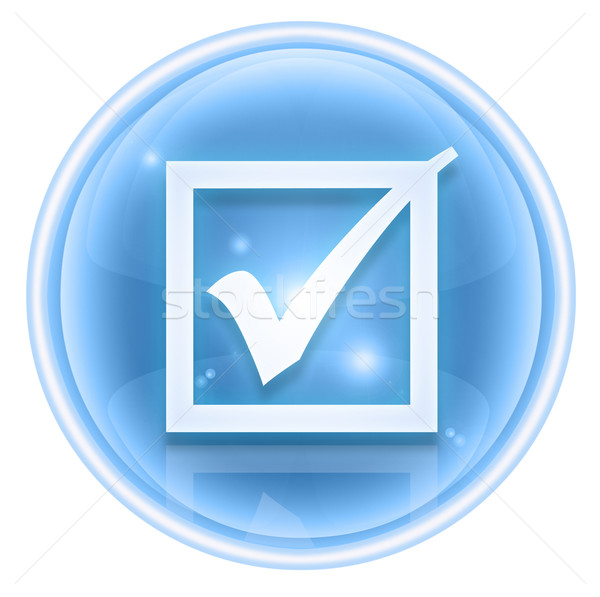 Controleren icon ijs geïsoleerd witte ontwerp Stockfoto © zeffss