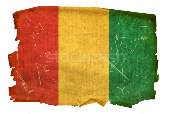 Guinea Flag old, isolated on white background. Stock photo © zeffss