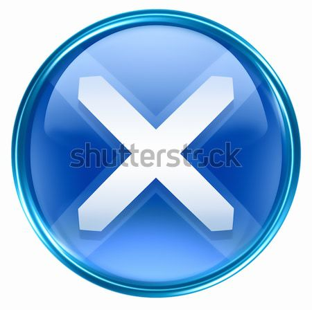 close icon blue, isolated on white background. Stock photo © zeffss