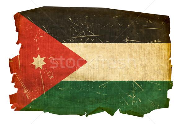 Jordânia bandeira velho isolado branco pintura Foto stock © zeffss