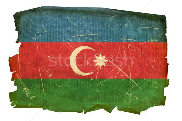 Azerbaiyán bandera edad aislado blanco pintura Foto stock © zeffss