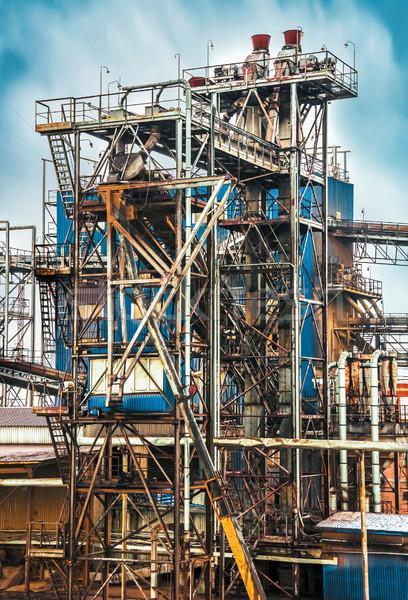 Edad refinería planta negocios cielo Foto stock © zeffss
