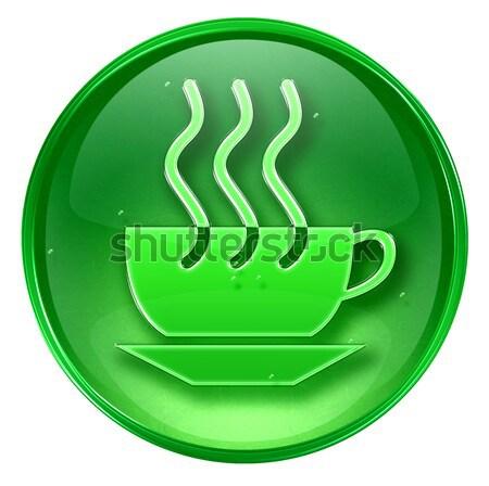 Koffiekopje icon donkere Blauw geïsoleerd zwarte koffie Stockfoto © zeffss
