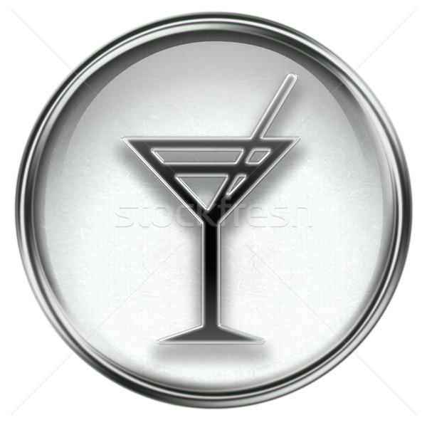 wine-glass icon grey Stock photo © zeffss