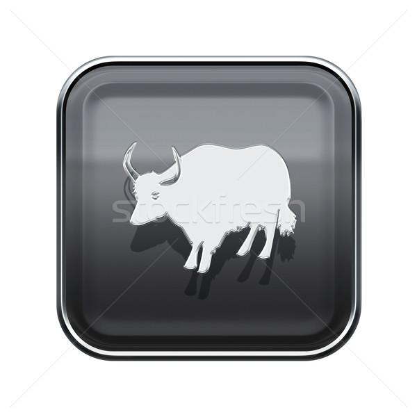 雄牛 ゾディアック アイコン グレー 孤立した 白 ストックフォト © zeffss