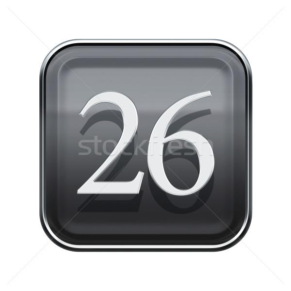 Twenty six icon grey glossy, isolated on white background Stock photo © zeffss