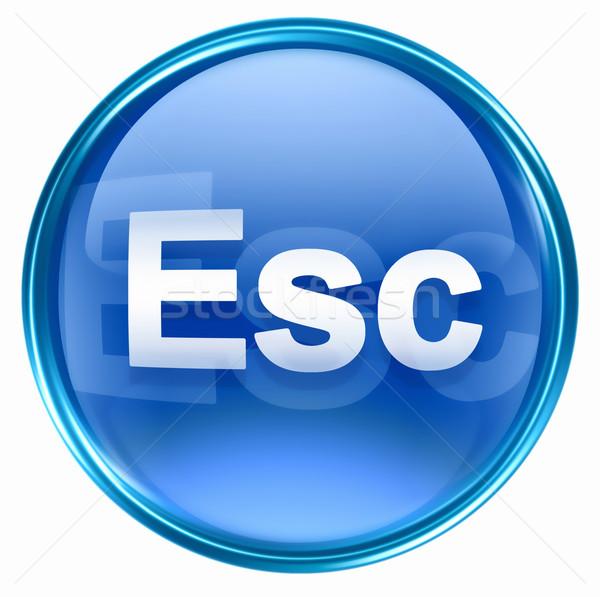 Esc icon blue, isolated on white background Stock photo © zeffss