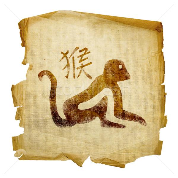Monkey  Zodiac icon, isolated on white background. Stock photo © zeffss