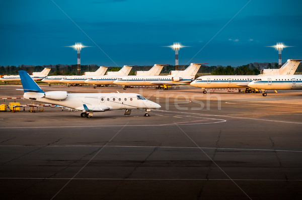 Night at the airport. Stock photo © zeffss