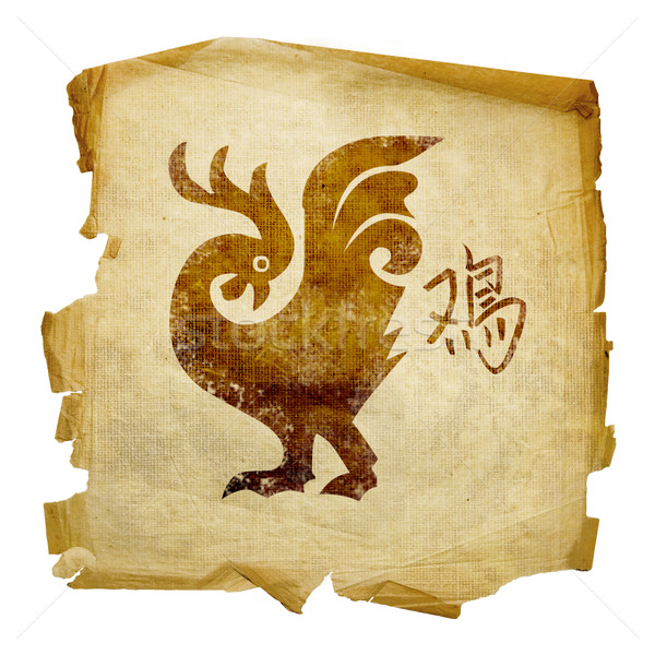 Cock Zodiac icon, isolated on white background. Stock photo © zeffss