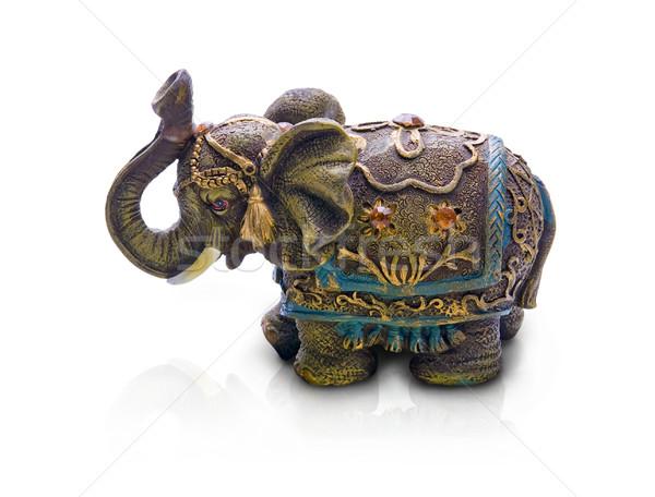 elephant, isolated on white background Stock photo © zeffss