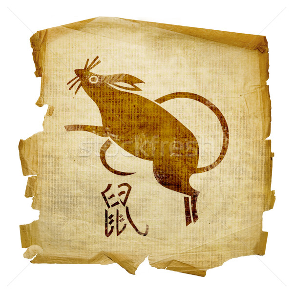 Rat  Zodiac icon, isolated on white background. Stock photo © zeffss