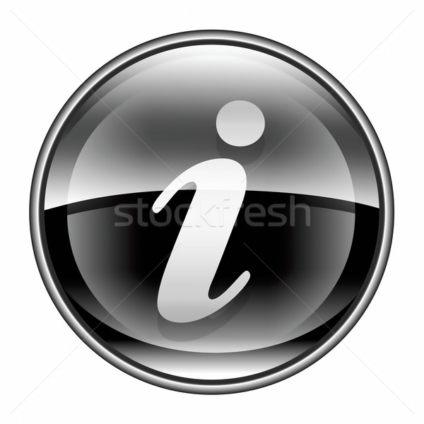 information icon black, isolated on white background Stock photo © zeffss