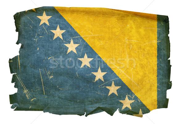 Bosnia Herzegovina bandera edad aislado blanco pintura Foto stock © zeffss