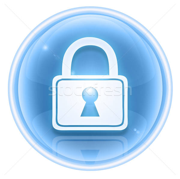 Lock icon ice, isolated on white background. Stock photo © zeffss