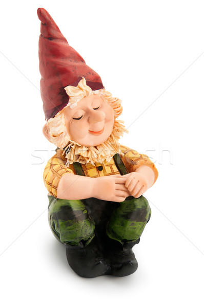 Sitting Gnome isolated with clipping path  Stock photo © zeffss