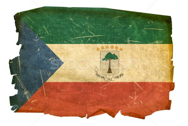 Guiné Equatorial bandeira velho isolado branco pintura Foto stock © zeffss