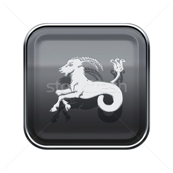 Capricorn zodiac icon grey, isolated on white background Stock photo © zeffss