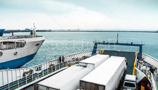 トラック フェリー 水 風景 海 海 ストックフォト © zeffss