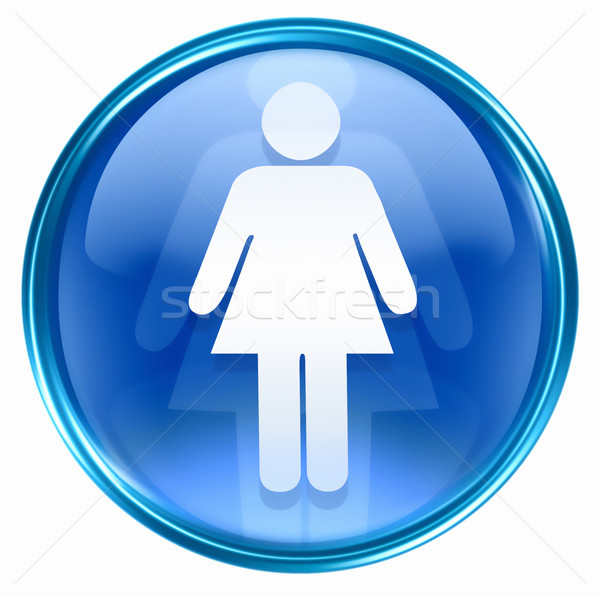 woman icon blue, isolated on white background. Stock photo © zeffss