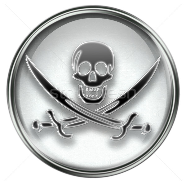Pirate icon grey Stock photo © zeffss