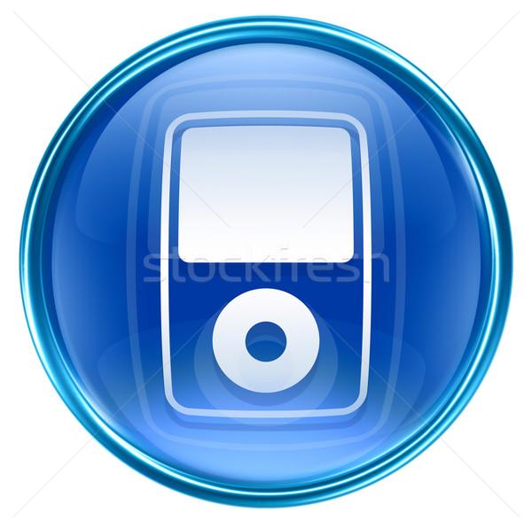 Mp3 çalar mavi yalıtılmış beyaz teknoloji web Stok fotoğraf © zeffss