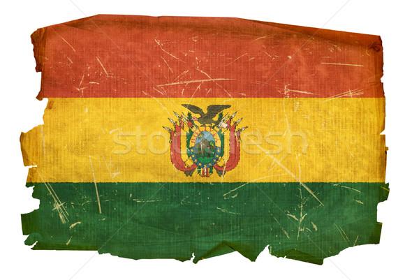 Bolivia Flag old, isolated on white background. Stock photo © zeffss