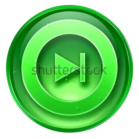 Rewind Forward icon green, isolated on white background. Stock photo © zeffss