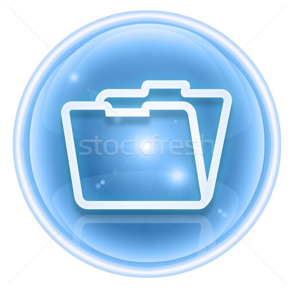 папке икона льда изолированный белый бизнеса Сток-фото © zeffss