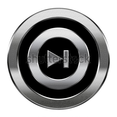 Play icon button grey Stock photo © zeffss