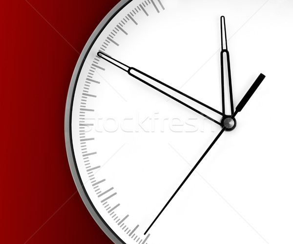 Wall Clock, isolated on red background Stock photo © zeffss