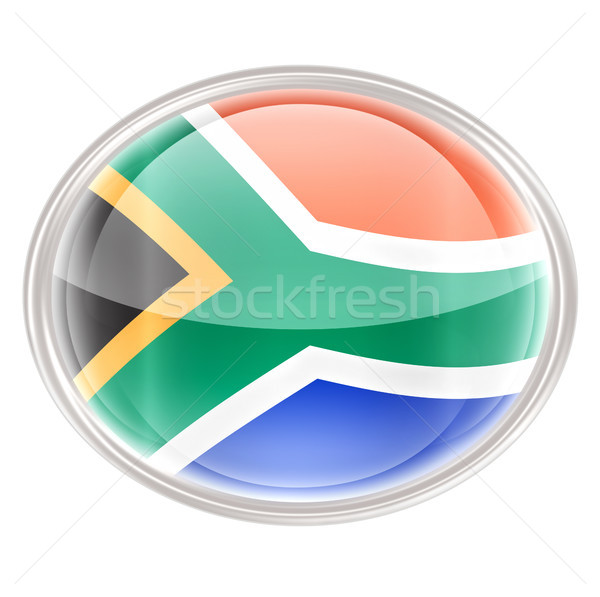 South Africa Flag icon, isolated on white background Stock photo © zeffss