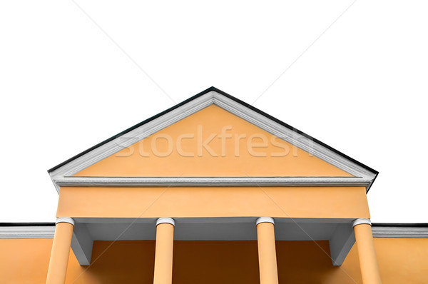 The old office building, isolated on white background. Stock photo © zeffss