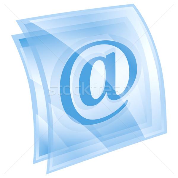 Stok fotoğraf: E-mail · simge · mavi · yalıtılmış · beyaz · bilgisayar