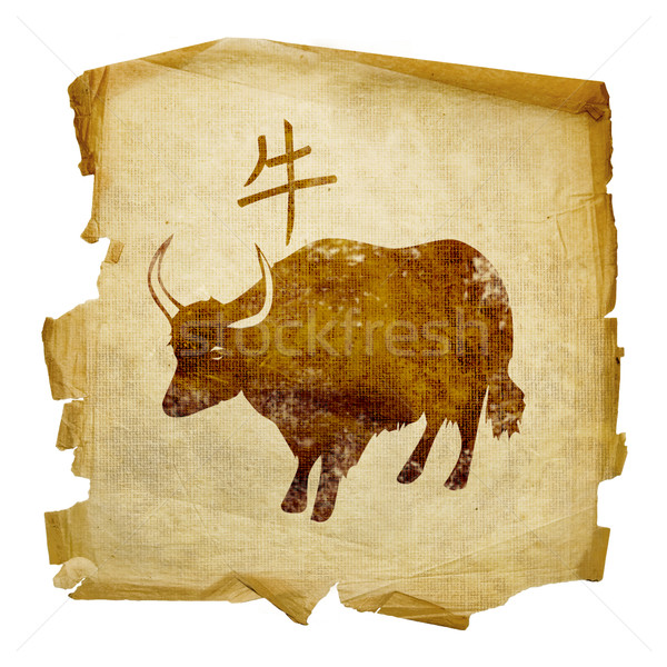 Ox  Zodiac icon, isolated on white background. Stock photo © zeffss