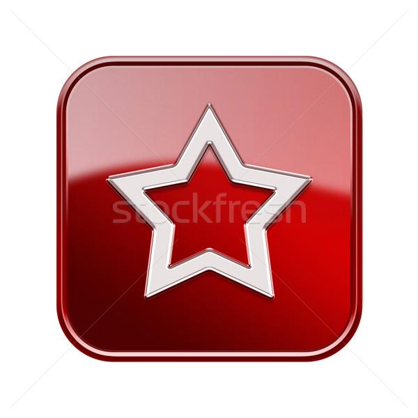 Zdjęcia stock: Star · ikona · czerwony · odizolowany · biały · działalności